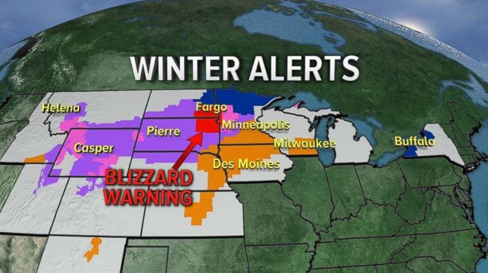 Multiple areas in the East were under winter alerts this week.