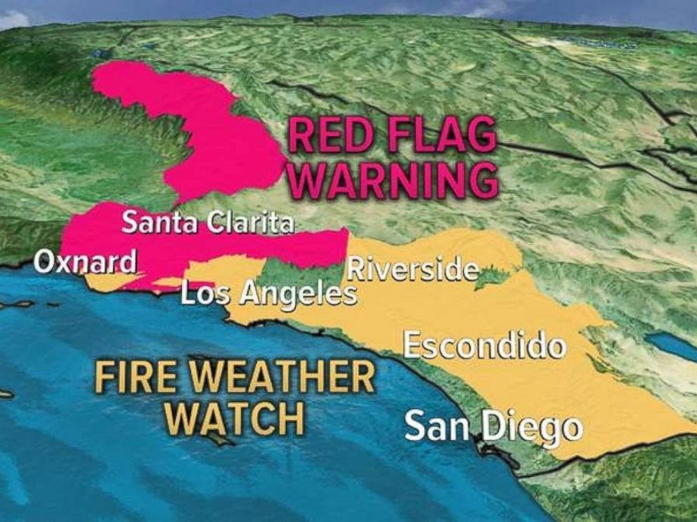 PHOTO: Even stronger winds are forecast Thursday and Friday for parts of southern California.