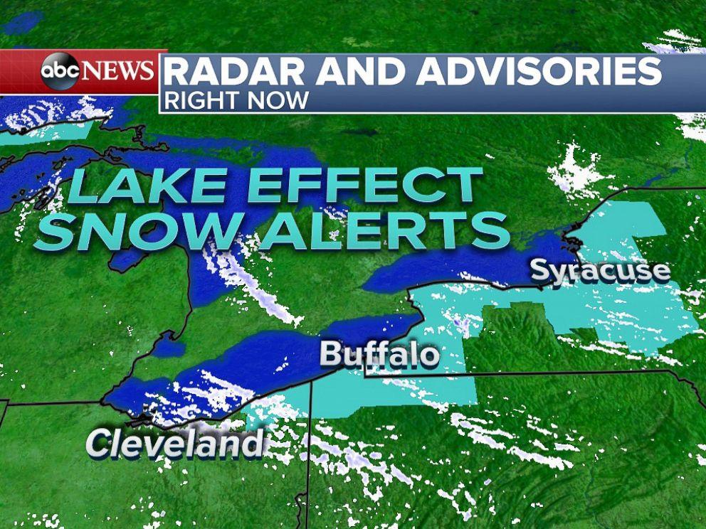 PHOTO: Lake Effect Snow Advisories across Ohio and Western New York.