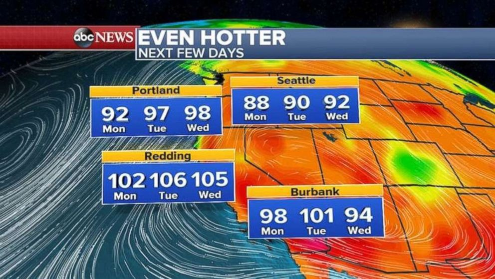 PHOTO: Another heat wave is on the way for the parts of the West Coast.