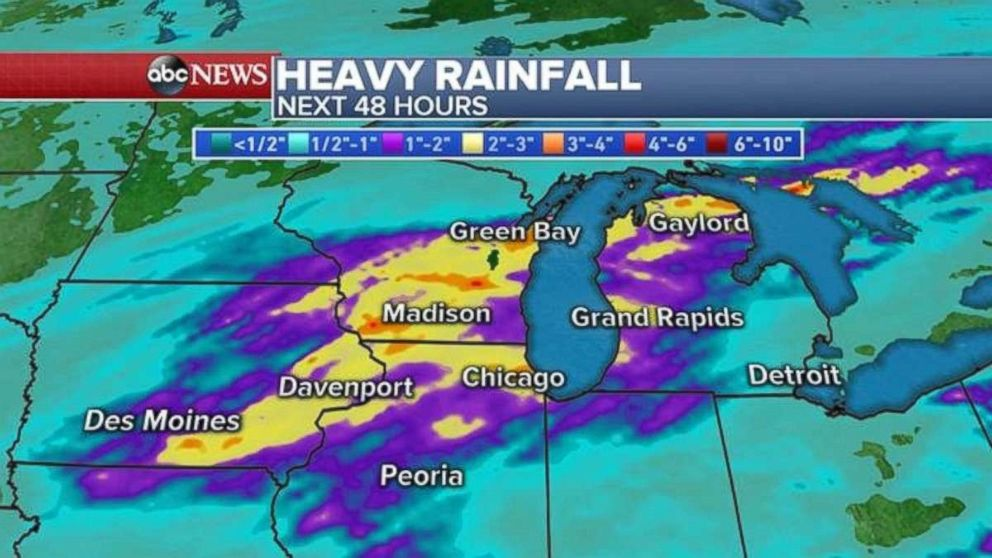Parts of the Midwest were under flash flood watches on Tuesday.