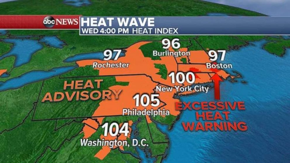 Parts of the Northeast were under excessive heat warnings this week.
