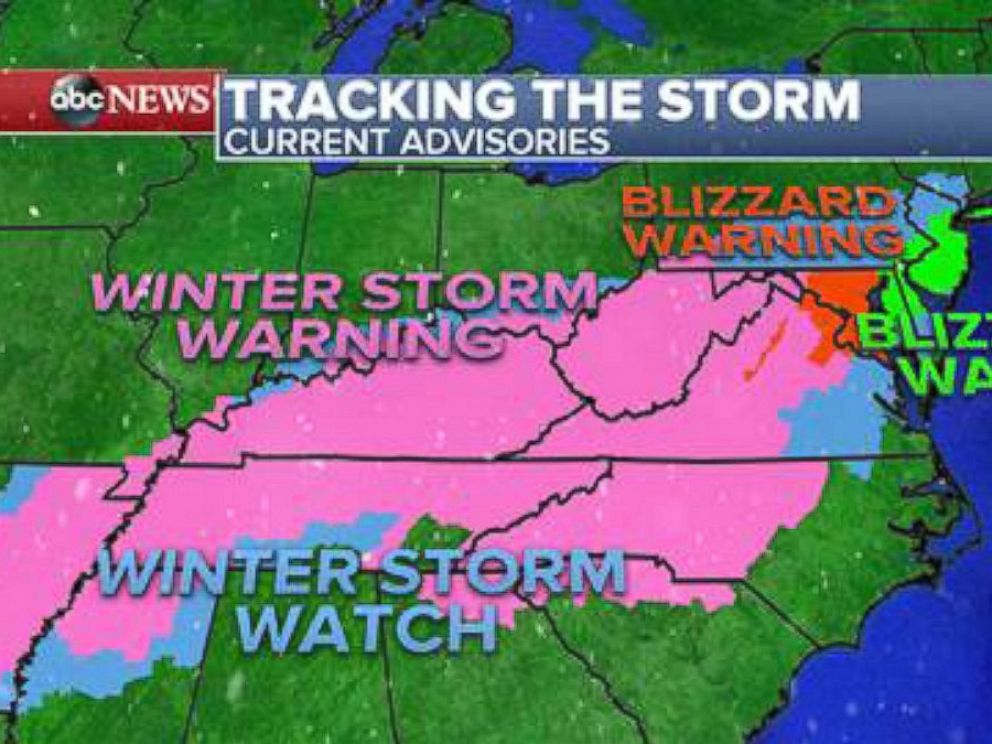 PHOTO: The National Weather Service predicts that the upcoming winter storm will affect more than 60 million people along the east coast.