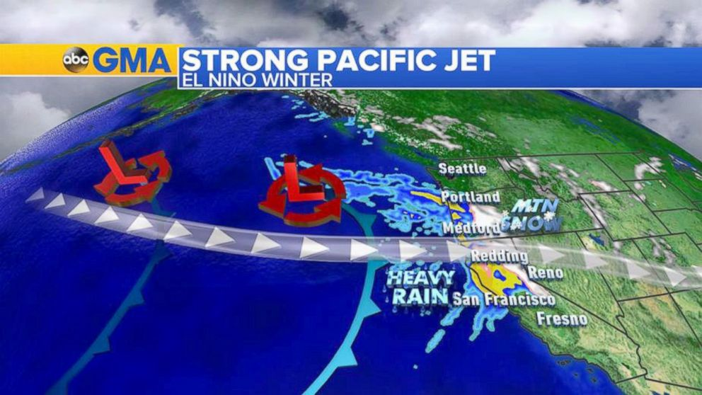 This year due to the unusually warm waters in the Gulf of Alaska, the jet stream has been pushing a lot of moisture into the Pacific Northwest.