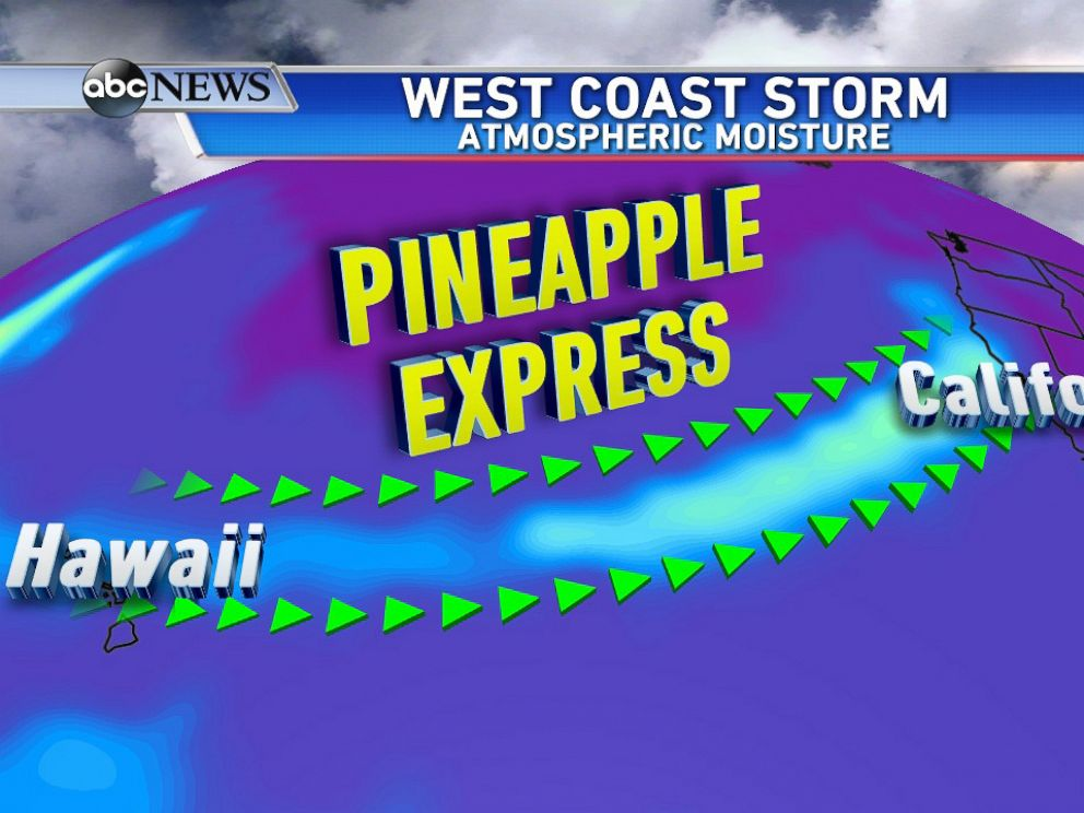 PHOTO: Pineapple Express brings surge of moisture to West Coast