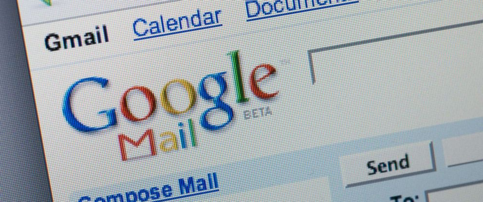 Gmail is seen on the screen of a computer in this undated file photo.