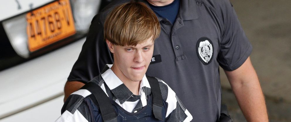 PHOTO:Dylann Roof is escorted from the Cleveland County Courthouse in Shelby, North Carolina in this June 18, 2015 file photo.