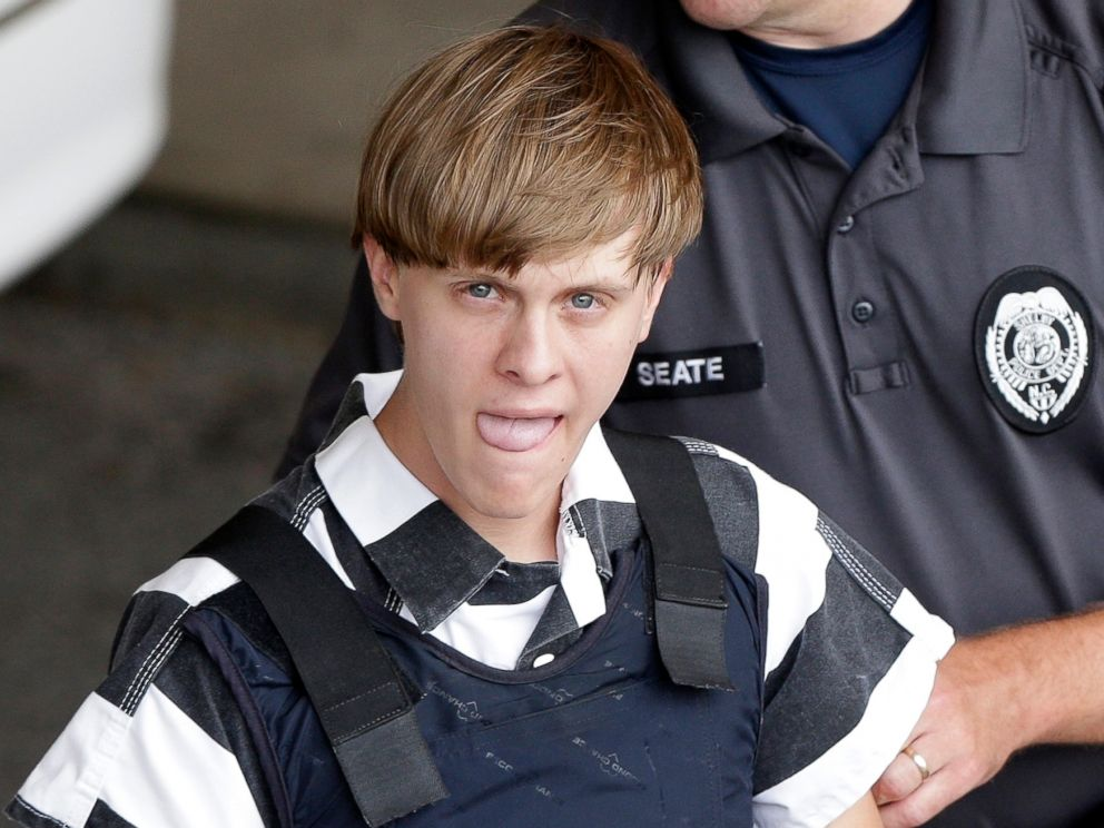 PHOTO: Shooting suspect Dylann Roof is escorted from the Cleveland County Courthouse in Shelby, North Carolina, June 18, 2015.