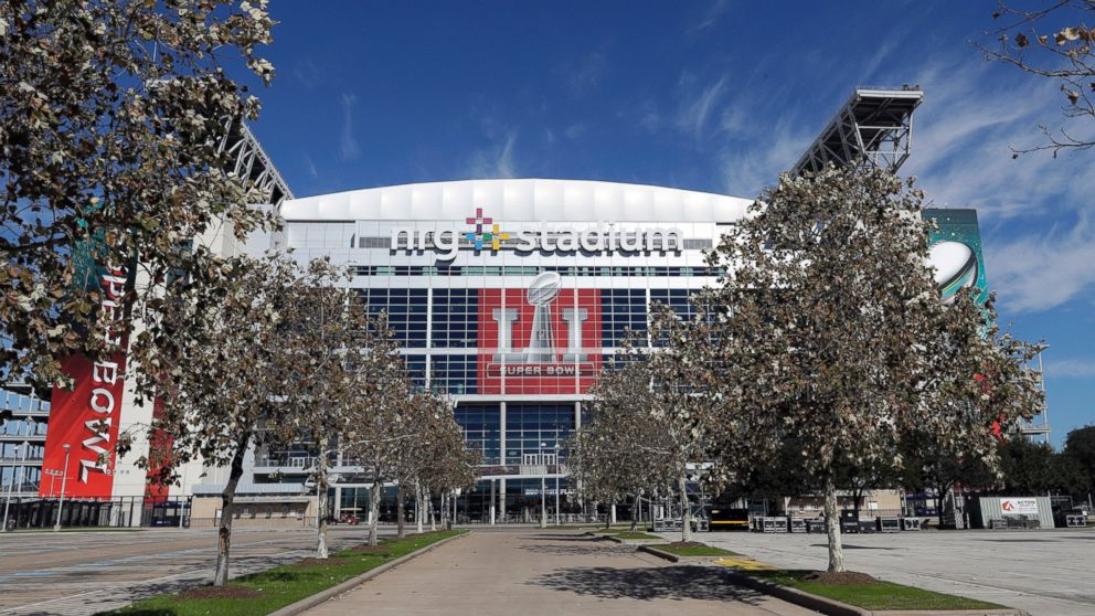 NRG Stadium, which will host Super Bowl LI, is shown, Jan. 24, 2017, in Houston. The New England Patriots will play the Atlanta Falcons in NFL football's Super Bowl LI on Sunday, Feb. 5, 2017, at NRG Stadium.