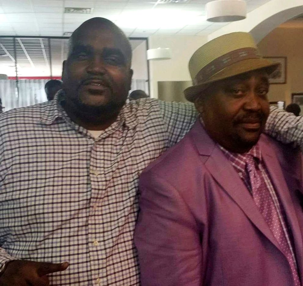 PHOTO: Terence Crutcher, left, with his father, Joey Crutcher. Terence Crutcher, an unarmed black man was killed by a white Oklahoma officer, Sept. 16, 2016, who was responding to a stalled vehicle.