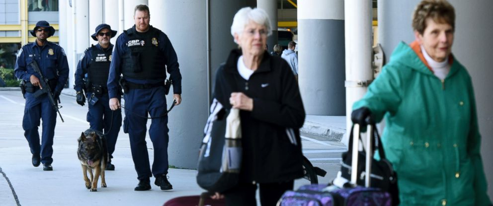 PHOTO: Security is high at Fort Lauderdale-Hollywood International Airport, Jan. 8, 2017, in Fort Lauderdale, Florida.
