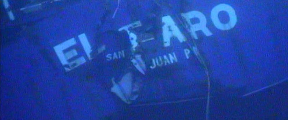 PHOTO: The stern of the sunken ship El Faro is pictured in this undated image made from a video released April 26, 2016 by the National Transportation Safety Board.