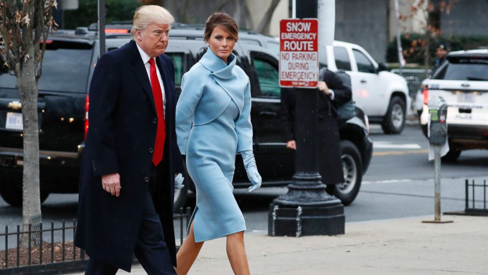 Melania Trump Channels Jacqueline Kennedy Onis In Inaugural Day Fashion Abc News