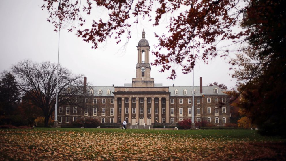 Old Main on the Penn State main campus in State College, Pa., Oct. 28, 2015.