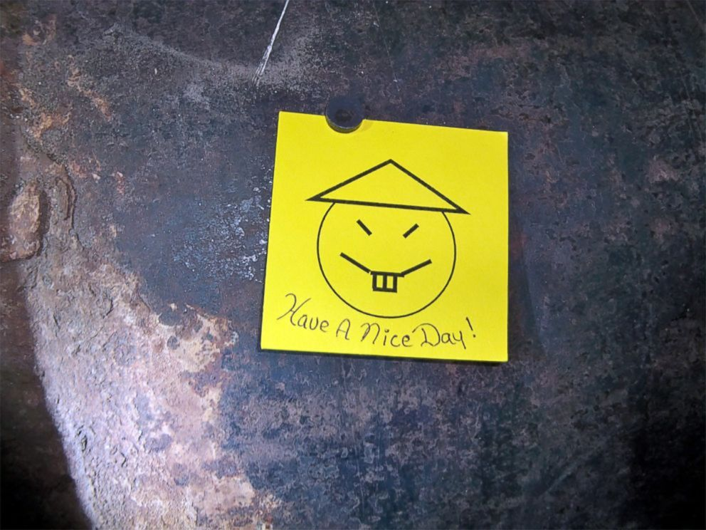 PHOTO: This photo provided by New York State Governors office shows the note left by two convicted murderers who used power tools to cut through steel pipes at a maximum-security prison in Dannemora, NY, Gov. Andrew Cuomo said June 6, 2015.