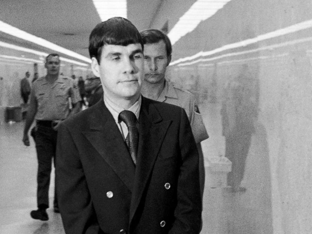 PHOTO: Charles Tex Watson, center, is led back to jail from a courtroom after he was convicted of seven counts of first degree murder and one of conspiracy to commit murder in the Tate-LaBianca slayings, Oct. 12, 1971, Los Angeles, Calif.