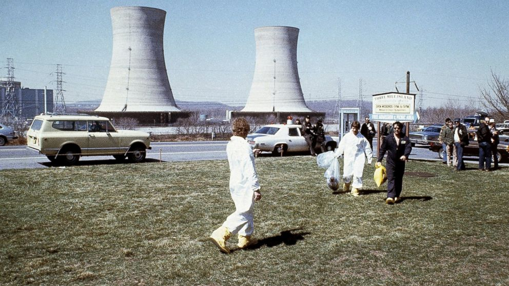 An undated photo of the Three Mile Island nuclear power station near Harrisburg, Pa., circa 1979.