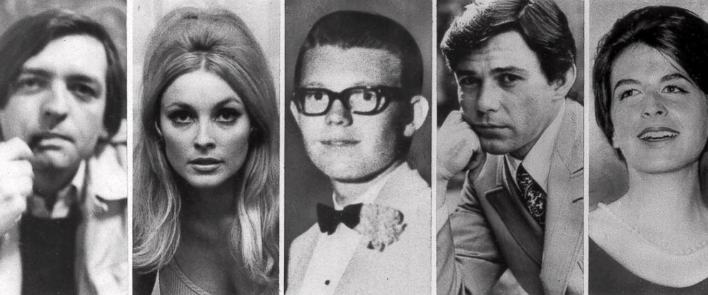 PHOTO: Charles Mansons five victims slain the night of Aug. 9, 1969 at the Benedict Canyon Estate of Roman Polanski. From left, Voityck Frykowski, Sharon Tate, Stephen Parent, Jay Sebring, and Abigail Folger.