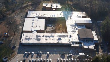 PHOTO: This aerial photo shows Sandy Hook Elementary School in Newtown, Conn., Dec. 14, 2012.
