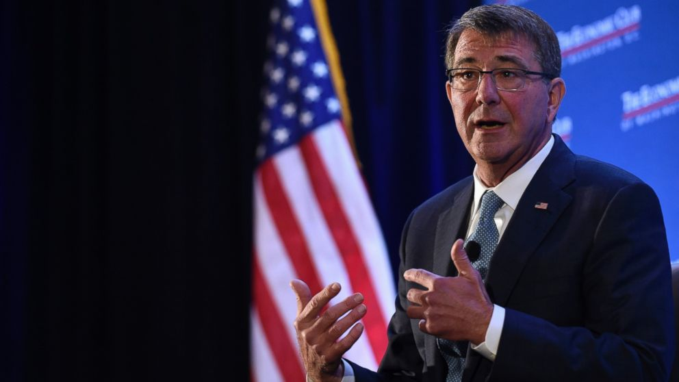 Ash Carter speaks about the upcoming Defense Department's budget, Feb. 2, 2016, during a speech at the Economic Club of Washington.