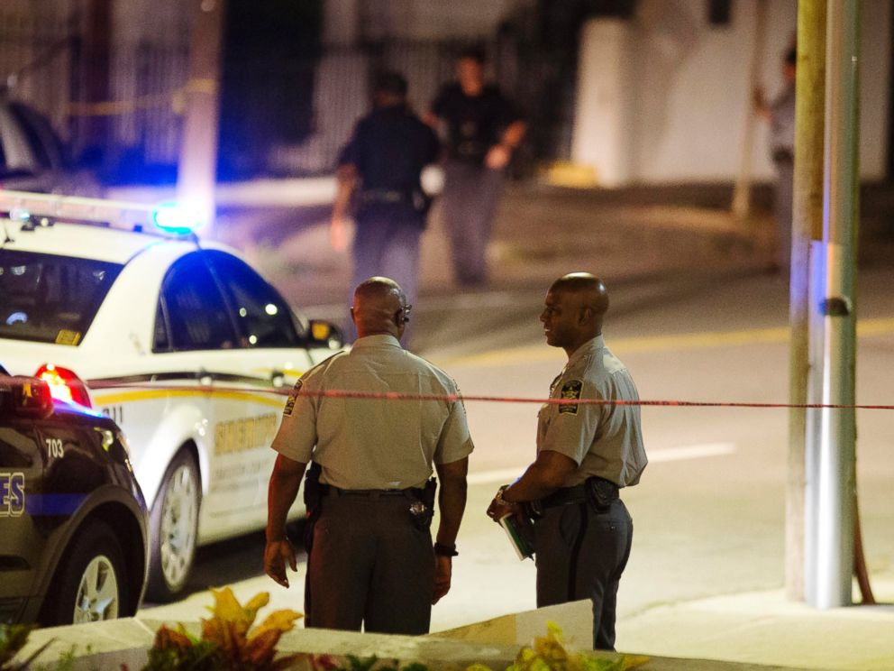PHOTO: Police stand outside the Emanuel AME Church following a shooting, June 17, 2015, in Charleston, S.C.