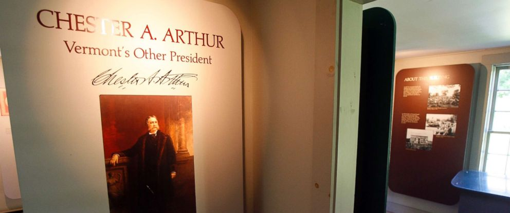 A view inside the site of the birthplace of President Chester Arthur in Fairfield, Vermont, Friday, Aug. 14, 2009. Nearly 123 years after his death, doubts about his U.S. citizenship linger, thanks to lack of documentation.