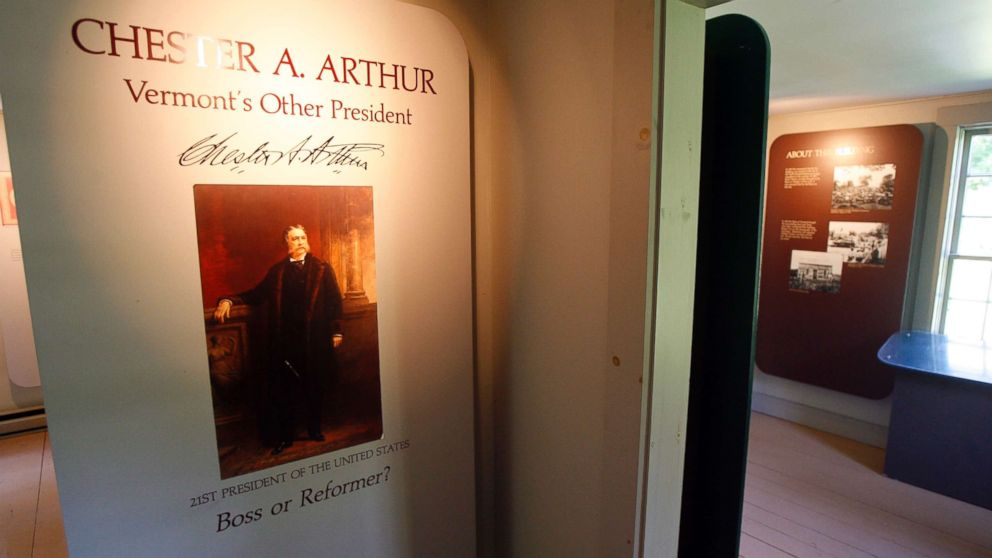 A view inside the site of the birthplace of President Chester Arthur in Fairfield, Vermont, Friday, Aug. 14, 2009. Nearly 123 years after his death, doubts about his U.S. citizenship linger, thanks to lack of documentation and a political foe's claim that Arthur was really born in Canada.