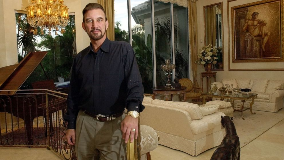 David Edwards won $27 million after taxes in the Powerball lottery, stands in his home on Nov. 14, 2001, in Palm Beach Gardens, Fla.
