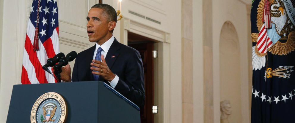 PHOTO: President Barack Obama speaks during a nationally televised address from the White House in Washington, Nov. 20, 2014.