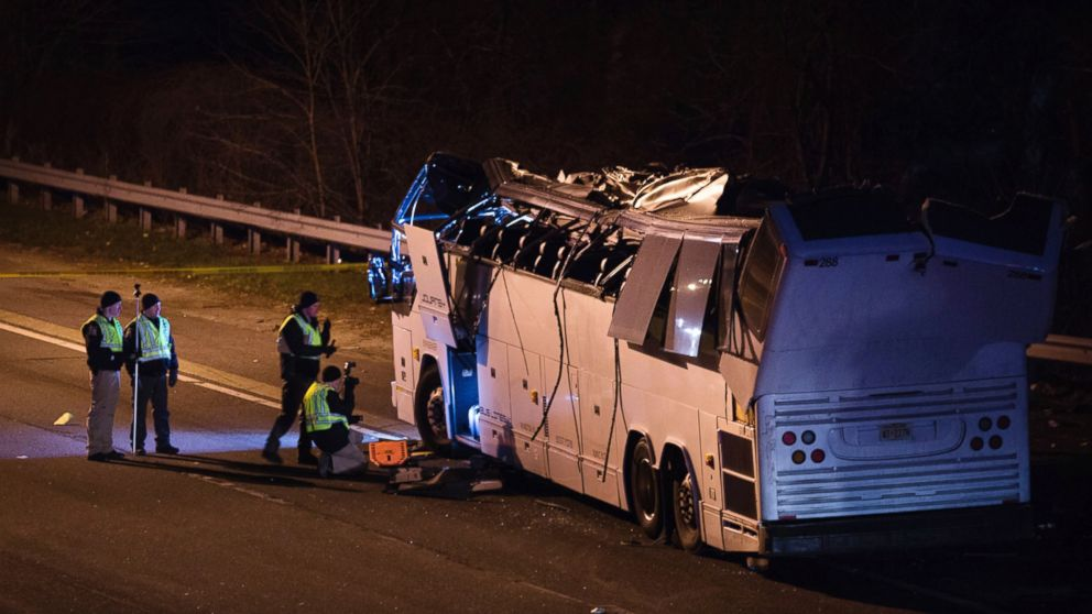 Someone Shouted Duck Before Charter Bus Hit Overpass Injuring