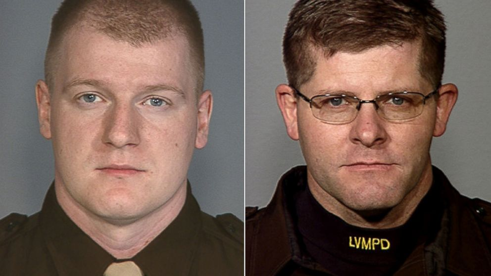 Police officers Igor Soldo, left, and Alyn Beck were identified as the victims in a Las Vegas Shooting, June 8, 2014.