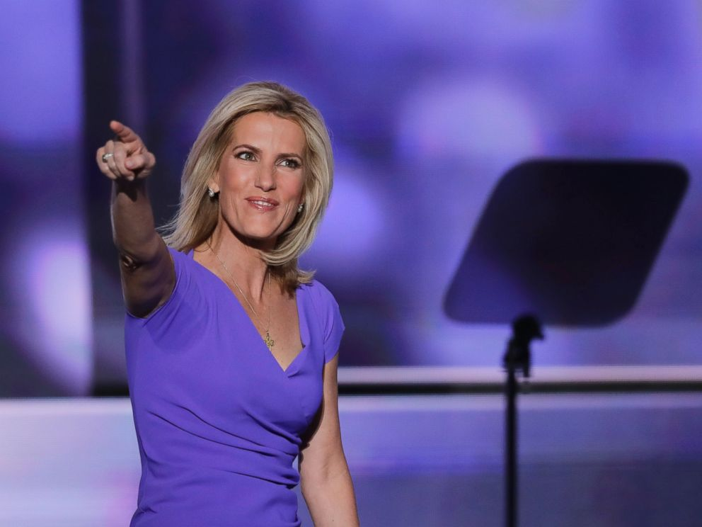 PHOTO: Conservative political commentator Laura Ingraham walks on stage during the third day of the Republican National Convention in Cleveland, Ohio, July 20, 2016.