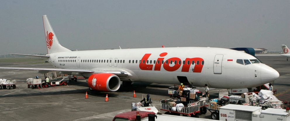 PHOTO: Indonesia. Indonesias Lion Air said Monday, Oct. 29, 2018, it has lost contact with a passenger jet flying from Jakarta to an island off Sumatra.