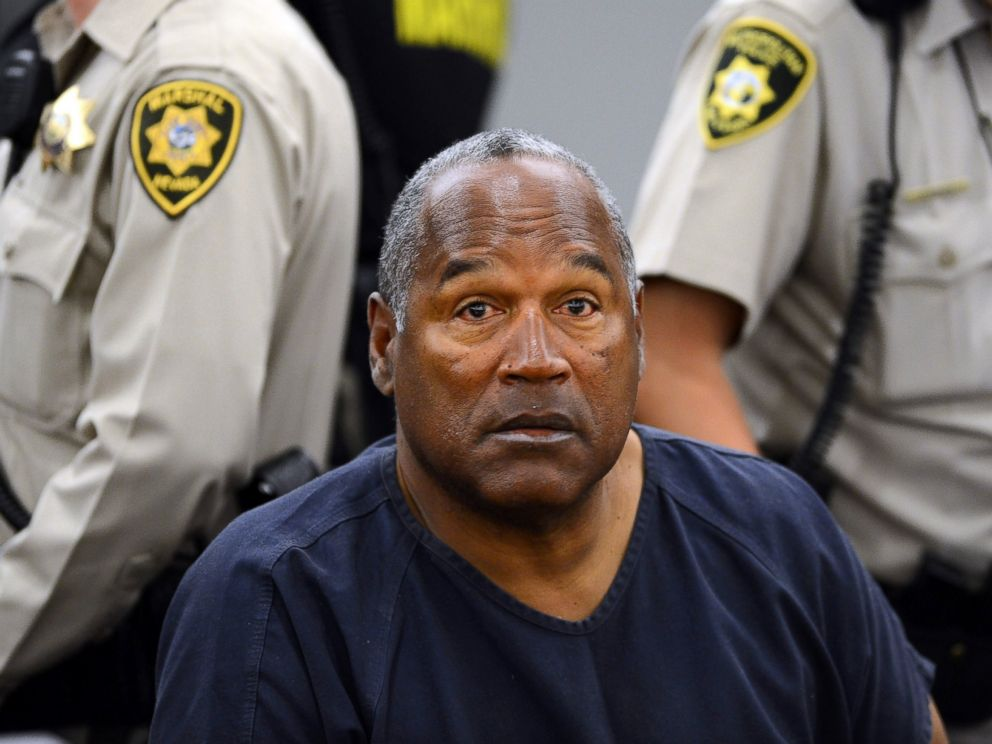PHOTO: O.J. Simpson sits during a break on the second day of an evidentiary hearing in Clark County District Court in Las Vegas, May 14, 2013.