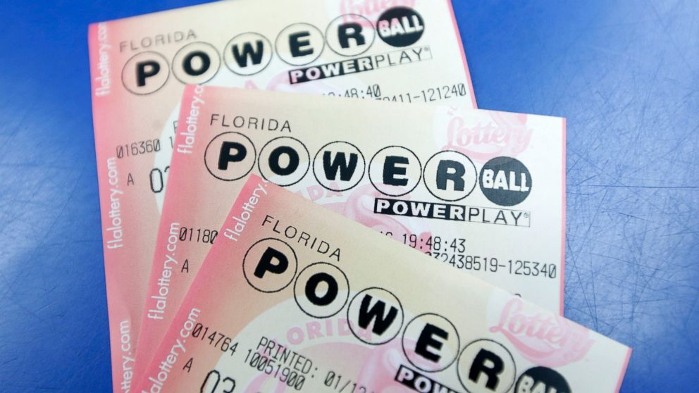 Purchased Powerball lottery tickets are shown, Jan. 12, 2016, in Miami.