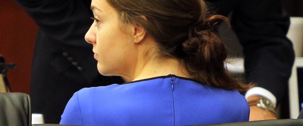 PHOTO: Shayna Hubers looks on during her murder trial, April 14, 2015.