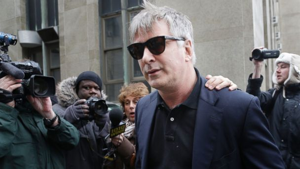 PHOTO: Actor Alec Baldwin leaves criminal court in New York on Tuesday, Nov. 12, 2013.