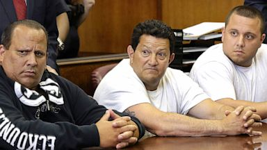 PHOTO: Defendants Anthony Santoro, left, Vito Badano, center, and Ernest Aiello