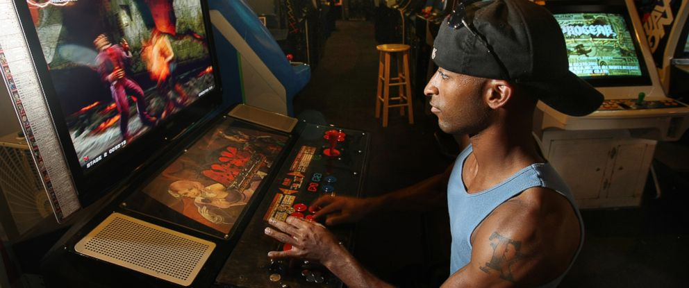 "PHOTO: In this Aug. 26, 2009 picture, Michael Robinson plays ""Tekken Six Bloodline Rebellion"" a popular game at Game Galaxy in Hickory Hollow mall in Nashville, Tenn."