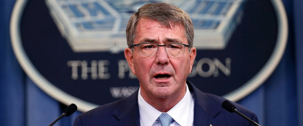 PHOTO: Defense Secretary Ash Carter speaks during a news conference at the Pentagon, June 30, 2016, where he announced new rules allowing transgender individuals to serve openly in the U.S. military.