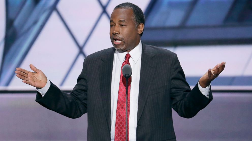 Dr. Ben Carson, former Republican Presidential Candidate, speaks during the second day of the Republican National Convention in Cleveland, July 19, 2016.