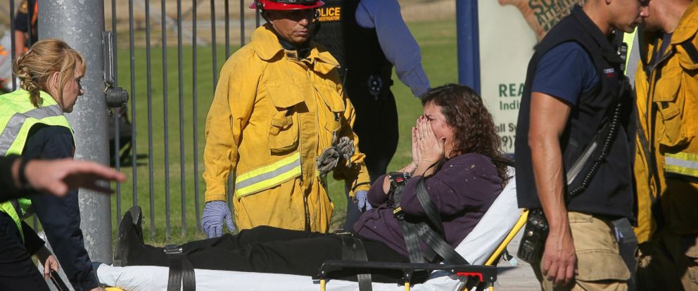 PHOTO: A victim is wheeled away on a stretcher following a shooting that killed multiple people at a social services facility, Dec. 2, 2015, in San Bernardino, Calif.