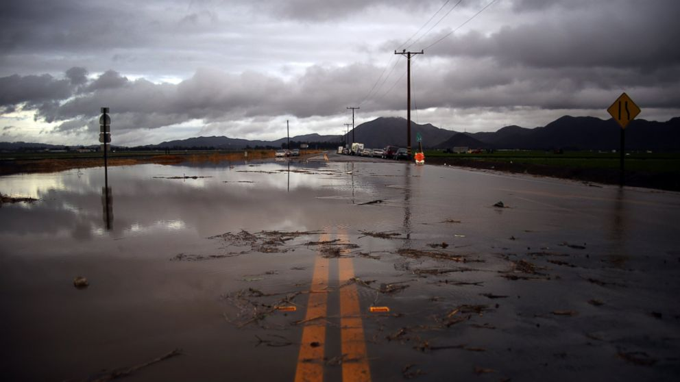 Water covers a closed Las Posas Road near Camarillo, Calif., after heavy rain from the first in a series of El Nino storms passed over the area in this Jan. 6, 2016 file photo.