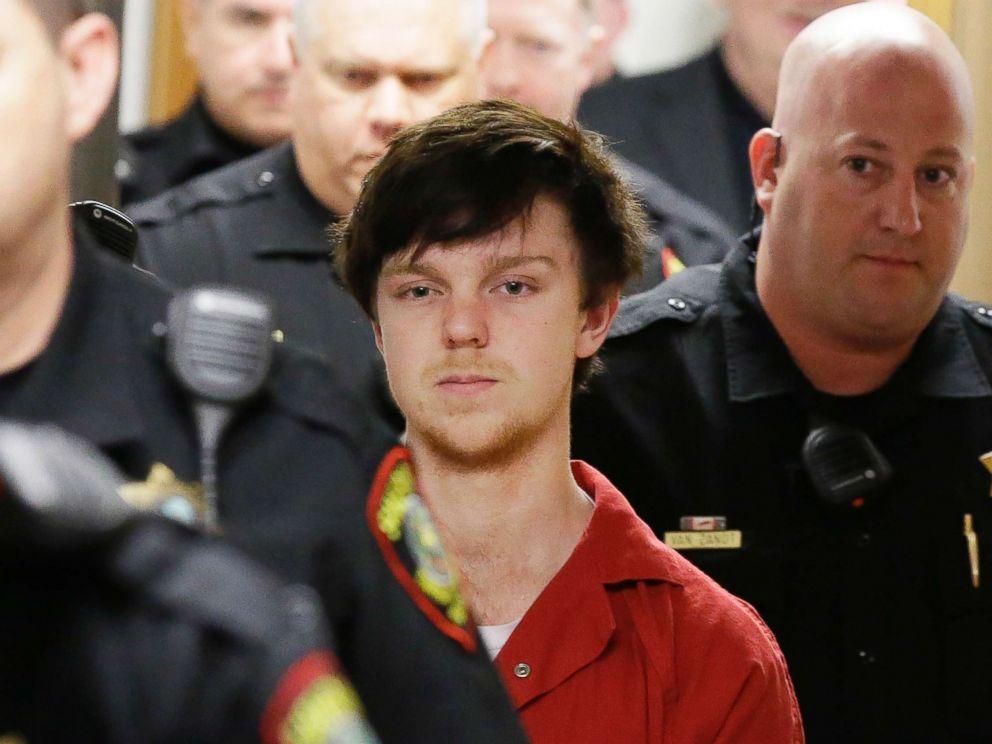 PHOTO: In this Feb. 19, 2016 file photo, Ethan Couch is led by sheriff deputies after a juvenile court for a hearing in Fort Worth, Texas.