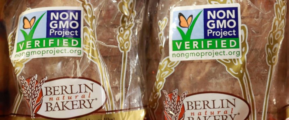 PHOTO: This Oct. 5, 2012 file photo shows products labeled with Non Genetically Modified Organism (GMO) being sold at the Lassens Natural Foods & Vitamins store in Los Feliz district of Los Angeles.