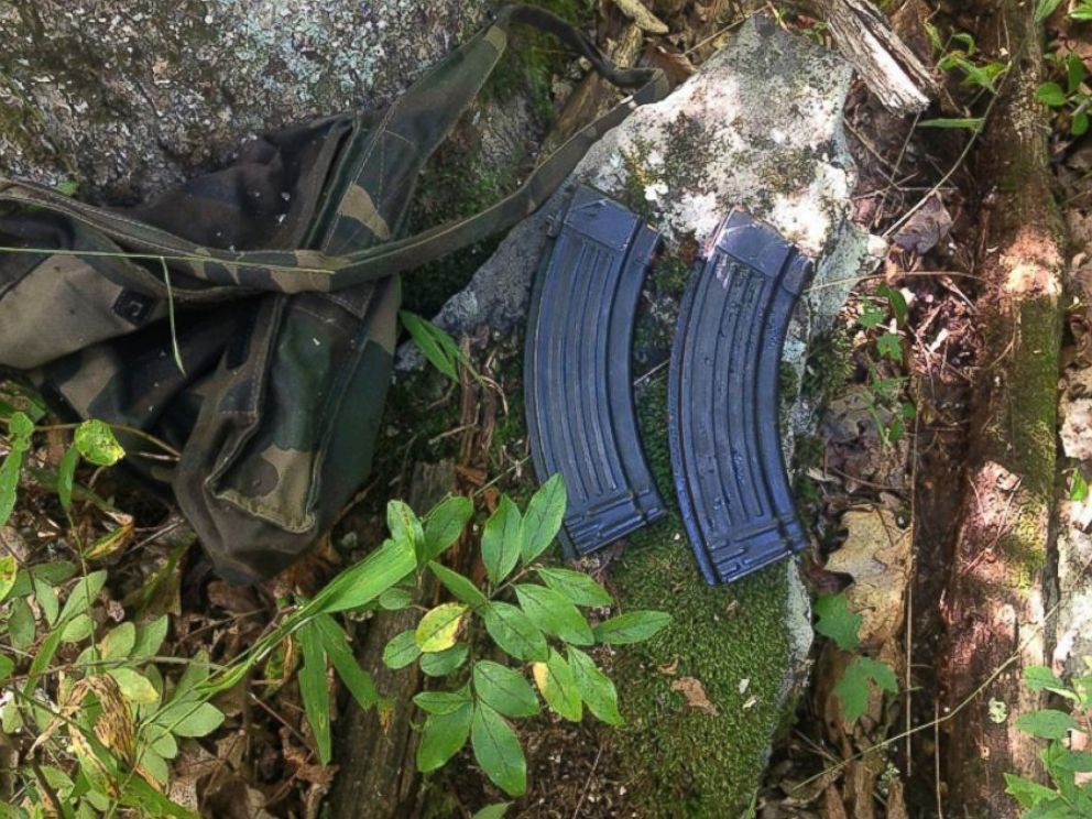 PHOTO: An undated photo provided by the Pennsylvania State Police shows what they say are magazines for an AK-47-style assault rifle that they have recovered from the woods in the manhunt for Eric Frein.
