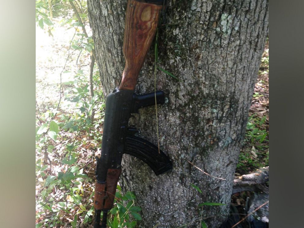 PHOTO: An undated photo provided by the Pennsylvania State Police shows what they say is an AK-47-style assault rifle that they have recovered from the woods in the manhunt for Eric Frein.