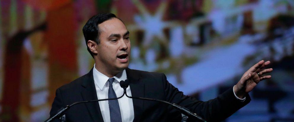 PHOTO: Rep. Joaquin Castro, D-Texas, addresses the Texas Democratic convention, June 17, 2016, in San Antonio, Texas.