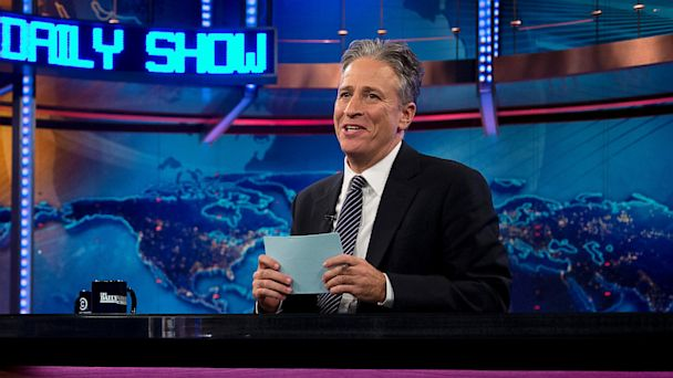 "PHOTO: Host Jon Stewart is shown during an Oct. 18, 2012 taping of ""The Daily Show with John Stewart,"" in New York."