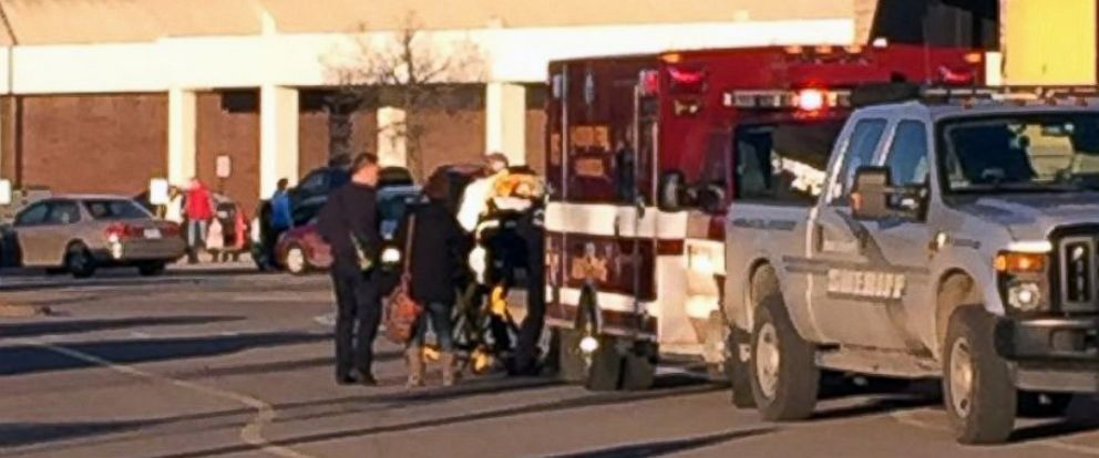 PHOTO: In this photo provided by NBC15 Madison, authorities respond to reports of shots fired at the East Towne Mall in Madison, Wis., Dec. 19, 2015.